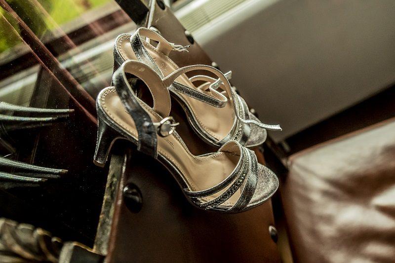 Sandali sposa argento