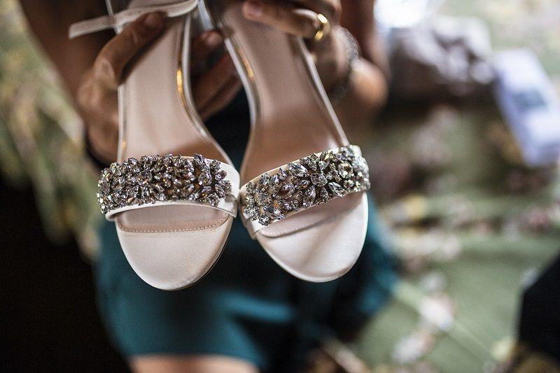 Sandali sposa con pietre