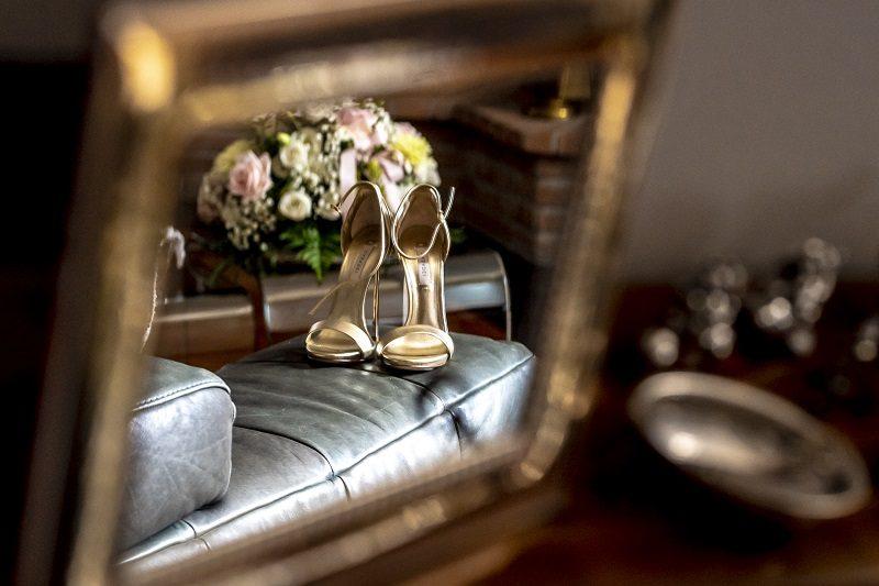 Sandali sposa oro