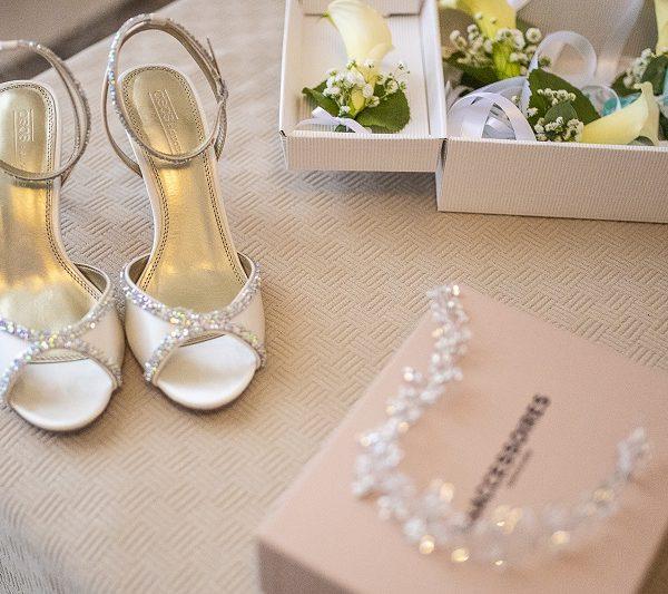 Scarpe sposa con brillantini