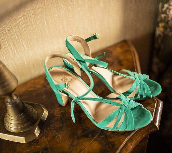 Scarpe sposa verdi