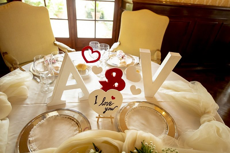Tavolo sposi allestimento